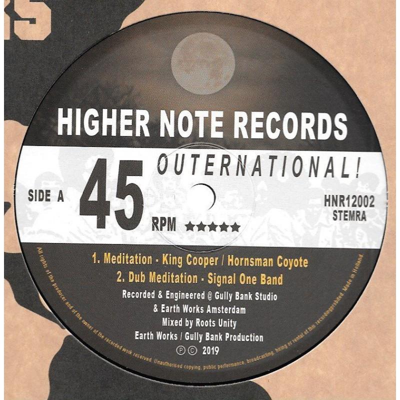 "(12"") KING COOPER, HORNSMAN COYOTE - MEDITATION / RAS P & SIGNAL ONE BAND - MIDNIGHT"