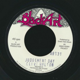 "(7"") CLIVE HYLTON - JUDGEMENT DAY / THE UPSETTERS - JUDGEMENT DUB"