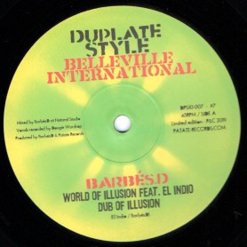 "(10"") BARBES D FEAT EL INDIO & FRED BURAM - WORLD OF ILLUSION / SUFFERING PLANET"