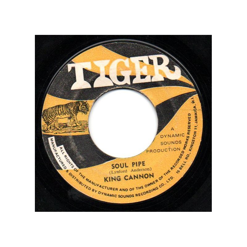 """(7"""") KING CANNON - SOUL PIPE / ANDY CAPP - POP A TOP"""