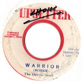 "(7"") THE DEVINE BROTHERS - WARRIOR / UPSETTERS - WAR DUB"