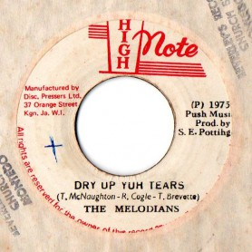 "(7"") THE MELODIANS - DRY UP YUH TEARS / THE SKY NATIONS - DRY DUB"
