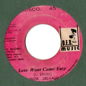 "(7"") JUNIOR DELGADO - LOVE WONT COME EASY / LENNOX BROWN - FROZEN SOUL"
