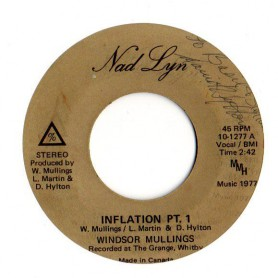 "(7"") WINDSOR MULLINGS - INFLATION PT.1 / VERSION"