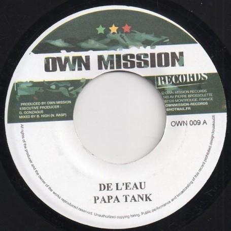"""(7"""") PAPA TANK - DE L'EAU / TAKANA ZION - AFRIQUE LIBRE"""