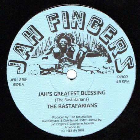 "(12"") THE RASTAFARIANS - JAH'S GREATEST BLESSING / SHAKA MAN - NEW CLEAR BOMB"