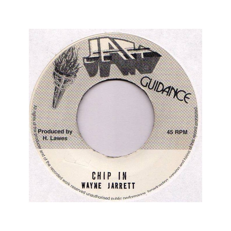 "(7"") WAYNE JARRETT - CHIP IN / VERSION"