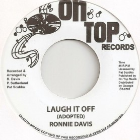"(7"") RONNIE DAVIS - LAUGH IT OFF  / VERSION"