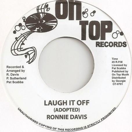 """(7"""") RONNIE DAVIS - LAUGH IT OFF / VERSION"""