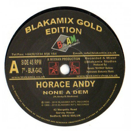 "(7"") HORACE ANDY - NONE A DEM / MIXMAN DUB SECTION - DUB DEM RIGHT"