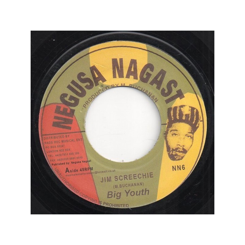 "(7"") BIG YOUTH - JIM SCREECHIE / VERSION"
