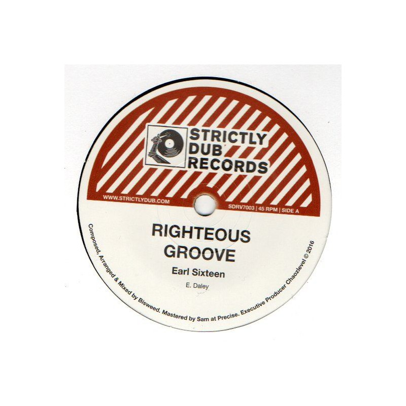 """(7"""") EARL SIXTEEN - RIGHTEOUS GROOVE / BISWEED & CHAOZLEVEL - RIGHTEOUS MELODICA"""