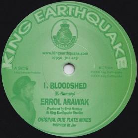 """(7"""") ERROL ARAWAK - BLOODSHED / BLOODSHED DUB"""