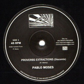 "(10"") PABLO MOSES - PROVERBS EXTRACTIONS (Discomix) / MUSIC IS MY DESIRE (Discomix)"