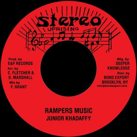 "(7"") JUNIOR KHADAFFY - RAMPERS MUSIC / VERSION"
