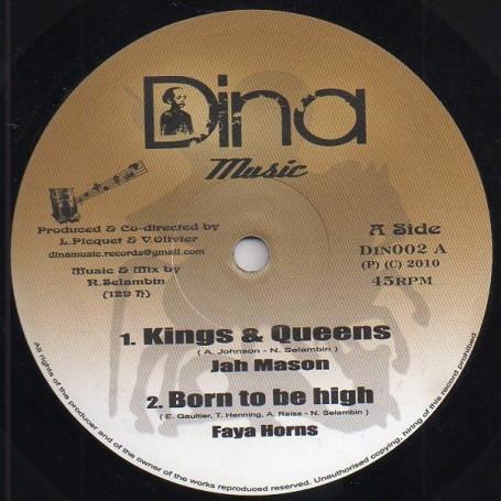 "(10"") JAH MASON - KINGS & QUEENS / LYRICSON - NAH SEKKLE"