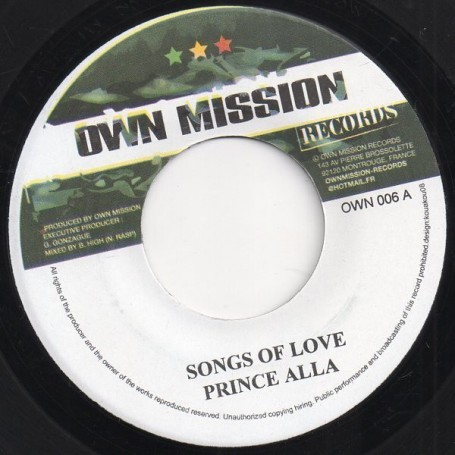 """(7"""") PRINCE ALLA - SONGS FOR LOVE / DERAJAH - FIGHTING FOR"""