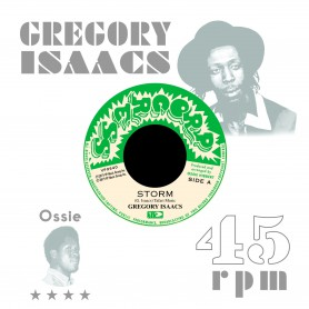 "(7"") GREGORY ISAACS - STORM / OSSIE ALL STARS - LEGGO DUB"