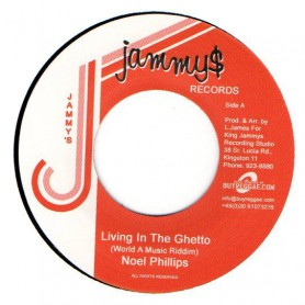 "(7"") NOEL PHILLIPS - LIVING IN THE GHETTO / VERSION"