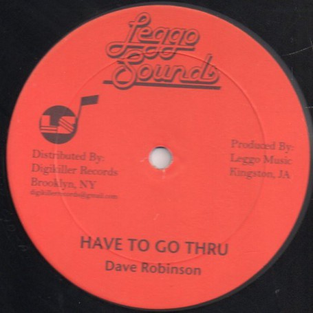 "(12"") DAVE ROBINSON - HAVE TO GO THRU / VEX VERSION"