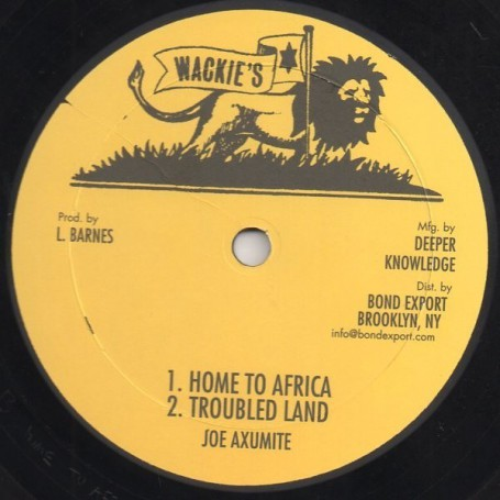 "(10"") JOE AXUMITE - HOME TO AFRICA / TROUBLED LAND / SIMPLE LITTLE WOMAN"