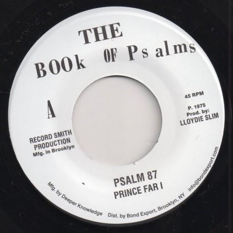"(7"") PRINCE FAR I - PSALM 87 / BLACK ONEY - FESTIVAL 75"
