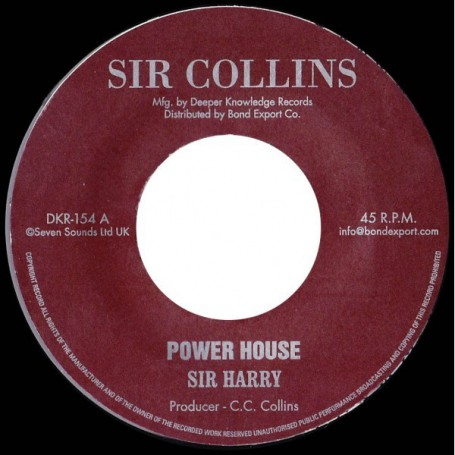"(7"") SIR HARRY - POWER HOUSE - SIR COLLINS ALL STARS - POWER HOUSE VERSION"