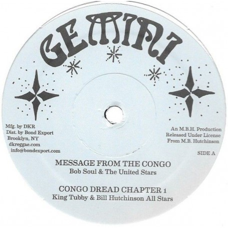 "(12"") BOB SOUL & THE UNITED STARS - MESSAGE FROM THE CONGO / BILLY HUTCH - TEN LONG YEARS"