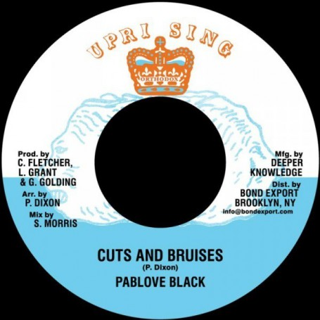 "(7"") PABLOVE BLACK - CUTS & BRUSIES / ADVOCATES AGGREGATION - BLOOD OF THE LAMB"