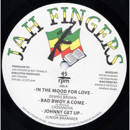 """(12"""") DENNIS BROWN - IN THE MOOD FOR LOVE / BUNK I FEAT JNUNIOR BRAMMER - NO TIME TO WASTE"""