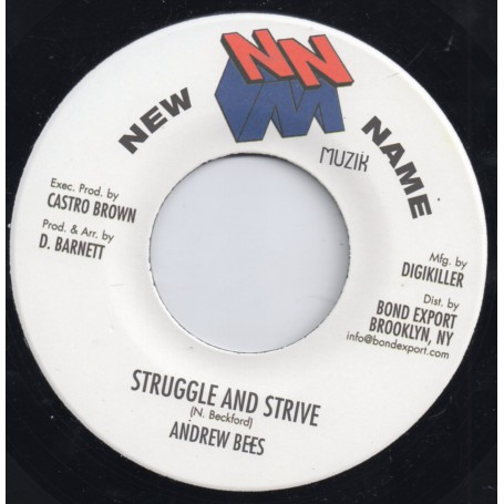 "(7"") ANDREW BEES - STRUGGLE & STRIVE / VERSION"