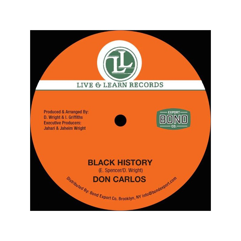 """(12"""") DON CARLOS - BLACK HISTORY / WOMAN CHANGE YOUR WAYS"""