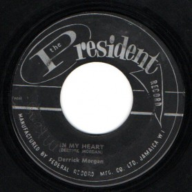 "(7"") DERRICK MORGAN - IN MY HEART / THE BELL GROUP - KINGSTON 13"