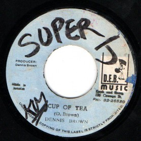 "(7"") DENNIS BROWN - CUP OF TEA / A PIECE OF BREAD"