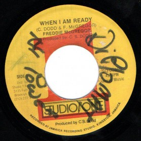 "(7"") FREDDIE MCGREGOR - WHEN I AM READY / SOUND DIMENSION BAND - I AM READY VERSION"