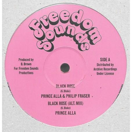 """(12"""") PRINCE ALLA & PHILLIP FRAZER - BLACK ROSE / SOUL SYNDICATE - BLACK ROSE VERSION"""