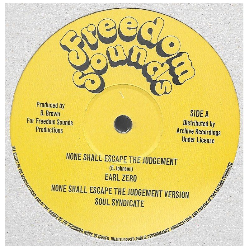 "(12"") EARL ZERO - NONE SHALL ESCAPE THE JUDGEMENT / SOUL SYNDICATE - VERSION / EXTENDED VERSION"