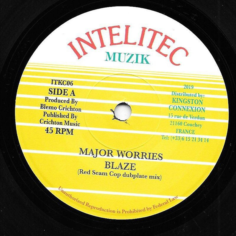 "(7"") MAJOR WORRIES - BLAZE (Red Seam Cop Dubplate Mix) / VERSION"
