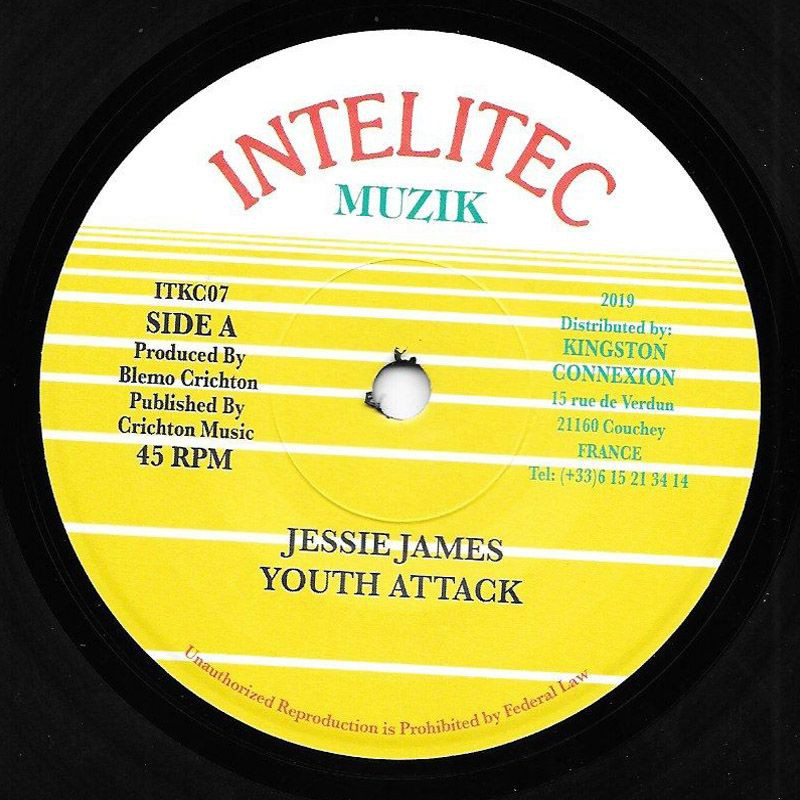 "(7"") JESSIE JAMES - YOUTH ATTACK / VERSION"