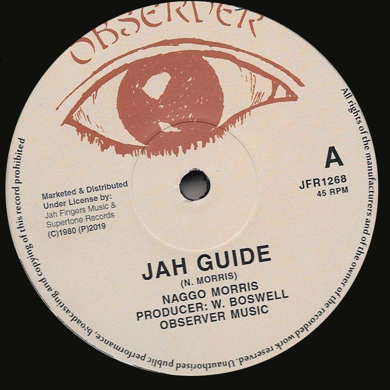 """(12"""") NAGGO MORRIS - JAH GUIDE / THE OBSERVER - GIVE HER MY LOVE"""