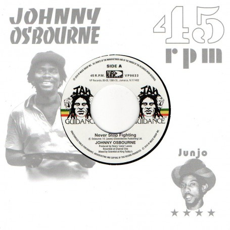 "(7"") JOHNNY OSBOURNE - NEVER STOP FIGHTING / ROOTS RADICS - DANGEROUS MATCH SIX"