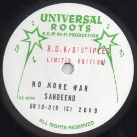 "(10"") SANDEENO - NO MORE WAR / MARLENE AMMERS - PURE LOVE"