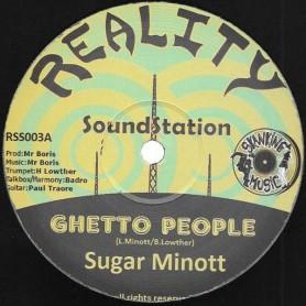 "(12"") SUGAR MINOTT - GHETTO PEOPLE / GHETTO ET DUB / GHETTO BASS DUB"