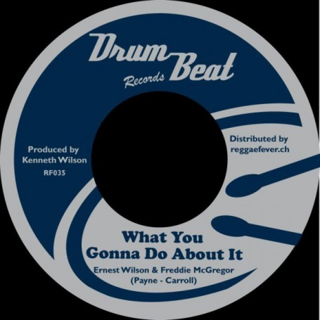 """(7"""") ERNEST WILSON & FREDDIE McGREGOR - WHAT YOU GONNA DO ABOUT IT / RUPIE MARTIN - DEATH IN THE ARENA"""