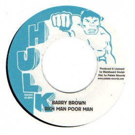 "(7"") BARRY BROWN - RICH MAN POOR MAN / RICH MAN DUB"