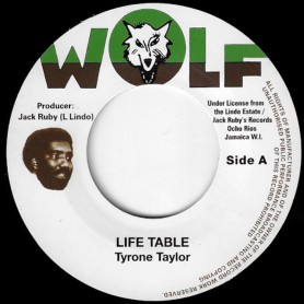 "(7"") TYRONE TAYLOR - LIFE TABLE / VERSION"