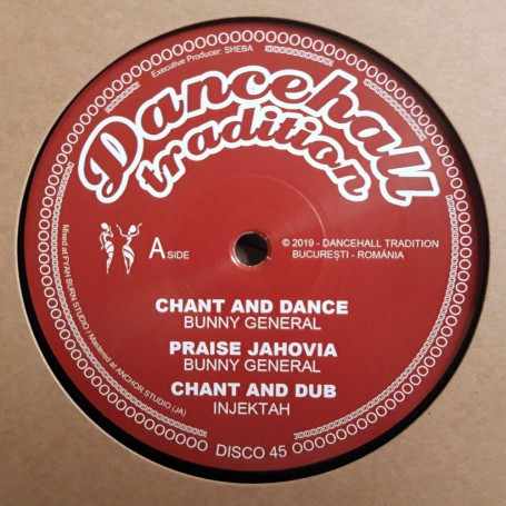 """(12"""") BUNNY GENERAL - CHANT AND DANCE / TENOR YOUTHMAN - DANCEHALL TRADITIONS"""