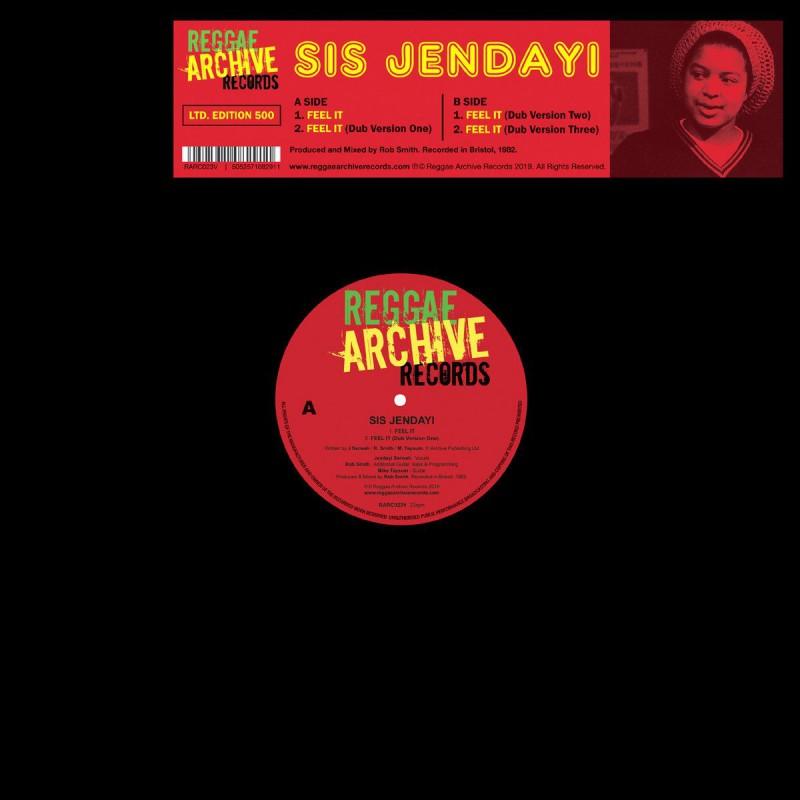 """(10"""") SIS JENDAYI - FEEL IT / FEEL IT DUB VERSION 1, 2 & 3"""