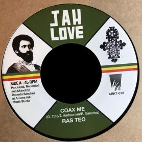 "(7"") RAS TEO - COAX ME / LONE ARK RIDDIM FORCE - COAX ME DUB"