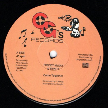 "(12"") FREDDY McKAY & TRINITY - COME TOGETHER / GG'S ALL STARS - SHA-LA MAR ROCKERS"